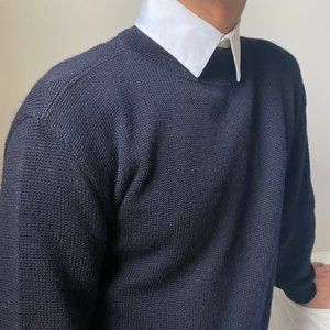 UNISEX VTG U.S.A Navy Officer Wool Blue Sweater